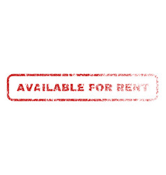 Available for rent rubber stamp vector