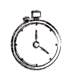 Blurred thick contour stopwatch with timer vector