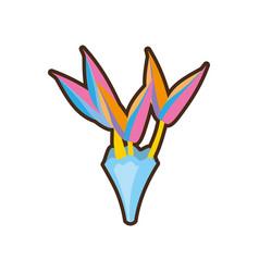 bouquet of paradise flowe vector image