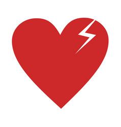 broken heart icon simple vector image