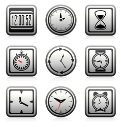 clock and time symbols vector image vector image
