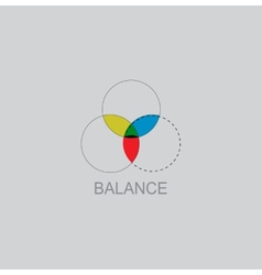 Color balance icon vector