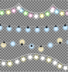 colorful festive garlands vector image