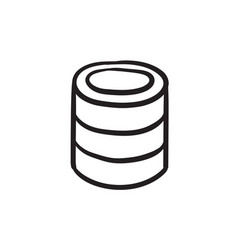 Computer server sketch icon vector