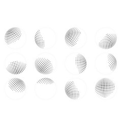 Dot ball sphere abstract design element set vector