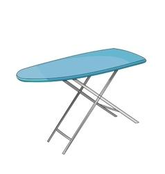 Empty ironing board vector