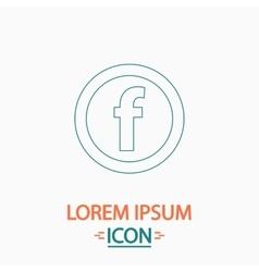 F Letter computer symbol vector image