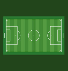 Football field aerial view on green background vector