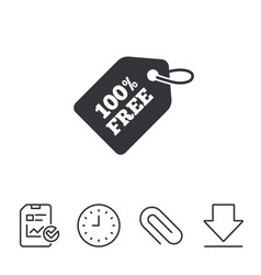 Free tag icon shopping special offer sign vector
