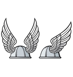 gaelic helmet with wings vector image vector image