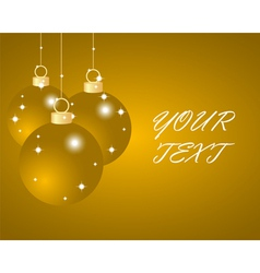 Gold christmas balls vector