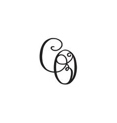 Handwritten monogram co icon vector