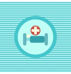 Hospital bed color flat icon vector image