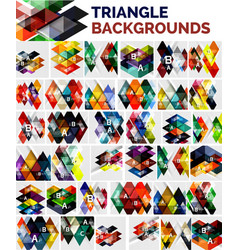 mega collection of triangle backgrounds vector image