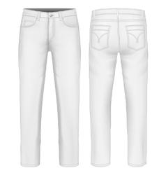 Men jeans vector image vector image