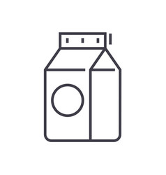 milk line icon sign on vector image