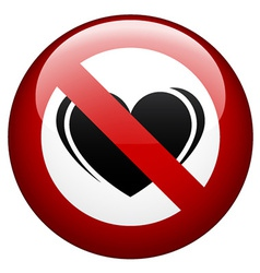 No love mark vector