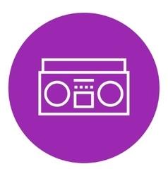 Radio cassette player line icon vector