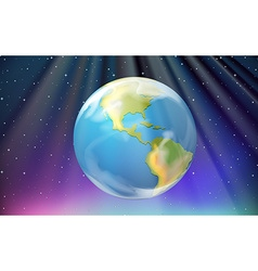 Scene with earth and outer space vector