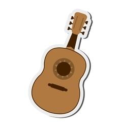Single guitarron icon vector