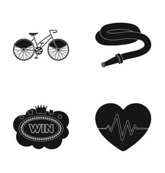 Sports casino and other web icon in black style vector