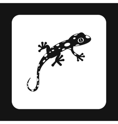 Spotted chameleon icon simple style vector