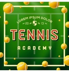 Tennis academy design over green background vector image vector image