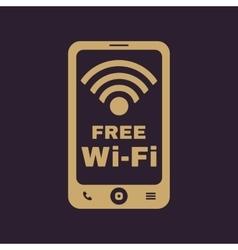 The wifi icon free wifi symbol flat vector