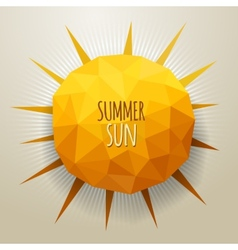 Triangle summer sun vector