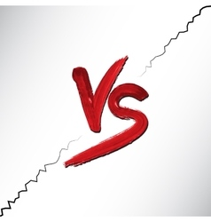 Versus letters logo red v and s flat style symbol vector