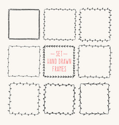 Vintage drawing frames to your template vector