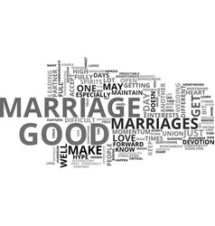 What makes a good marriage good text word cloud vector
