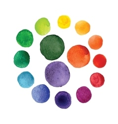 Handmade watercolor texture colorful paint drops vector image