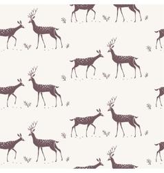 deer seamless background vector image