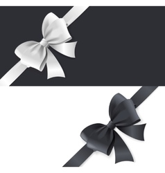 Luxury bows and ribbons card vector