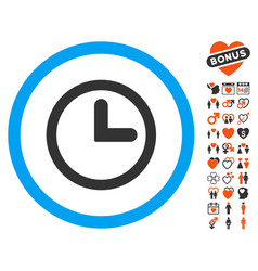 Clock icon with dating bonus vector