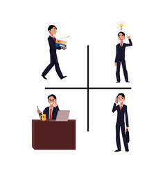 Businessman manager working having idea vector