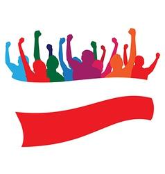 Poland fans vector image