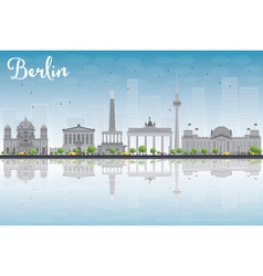 Berlin skyline with grey building vector