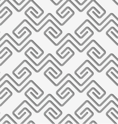 Perforated square spirals fastened vector