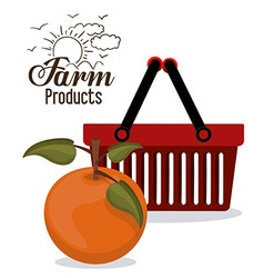 Farm products design vector