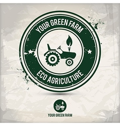 Alternative green farm stamp vector