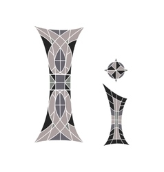 Low poly letter i in gray mosaic polygon vector