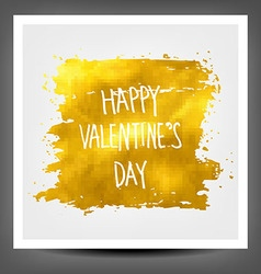 Golden banner happy valentine day vector