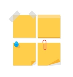 Empty paper stickers for notes vector