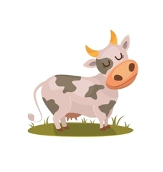 Funny isolated cow vector