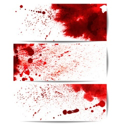 Background Set of Red Bloodstain Splashes vector image