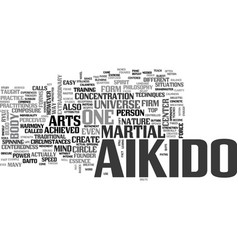 Aikido text word cloud concept vector