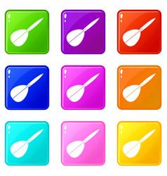 Arrow to play dart set 9 vector