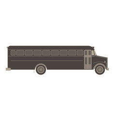 bus school transport icon isolated flat child car vector image vector image